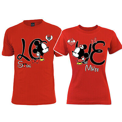 da7fd62d5f LOVE Soul mate Couple Matching T shirt LO Mickey VE Minnie vacation shirts
