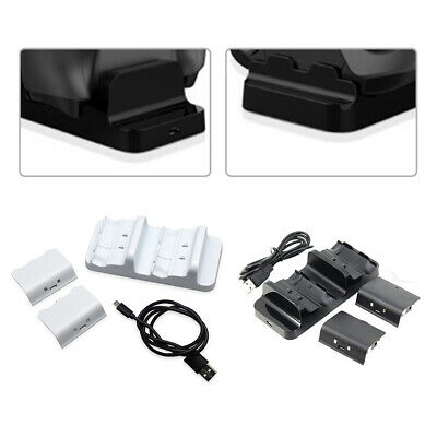Home Dual Charging Dock Station Controller Charger + 2 Battery Pack For Xbox One