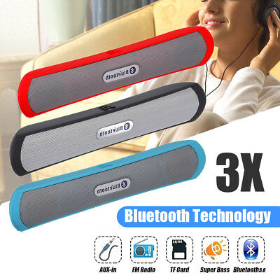 UK Soundbar TV Speaker Bluetooth Wireless Home Theater Sound Bar HiFi Subwoofer