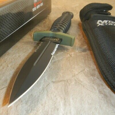 MTech Xtreme Tactical Fixed Blade Boot Knife Full Tang Dagger Blade G10 8059GN