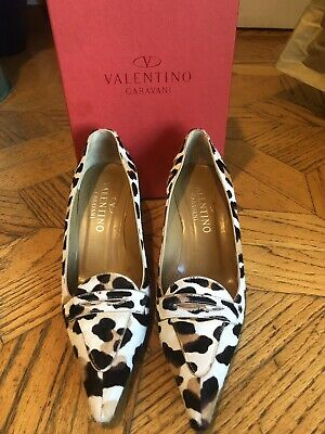 d46bfeb947a VALENTINO ROCKSTUD SUEDE Loafers Women's Size 36.5 EU 6.5 US Black ...