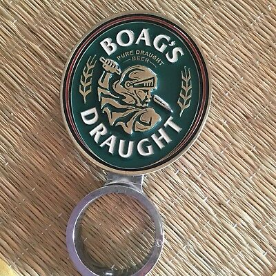 Collectible Boag's Draught Metal Beer  Tap Top Badge