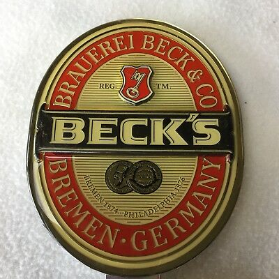 Beck's Beer Tap Badge, Decal, Top