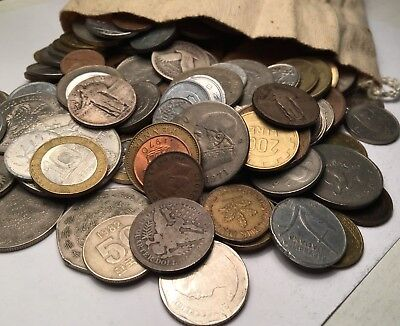 One Pound World Foreign Coins WITH GUARANTEED SILVER! Unsearched Bulk Coin Lot