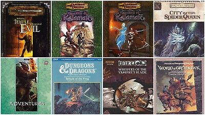 1098 BOOKS OF DUNGEONS & DRAGONS on 5 DVDs (D&D) Modules Adventure