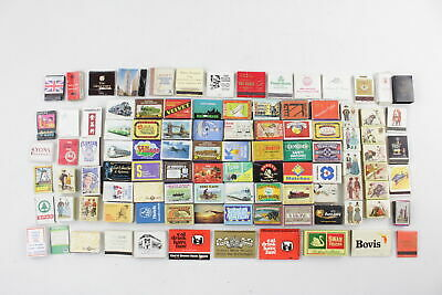 100 x Assorted Vintage MATCHBOX / BOOKS Inc. Advertising, Souvenir, Etc