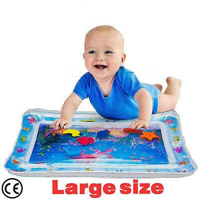 Inflatable Water Play Mat For Baby Infant Toddlers Mattress Fun   Tummy Time UK