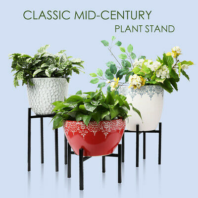 3 Sizes Iron Plant Stand Flower Pot Holder Indoor Outdoor Home Garden Decor