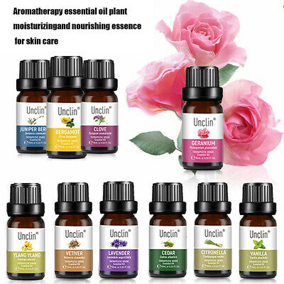 10ml Organic Aromatherapy Essential Oils Bady Relax Natural Skin Care Fragrances