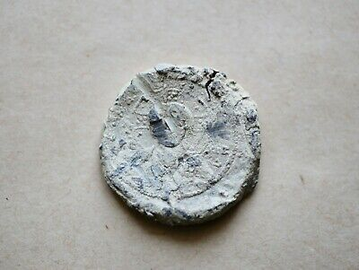 A Rarest Extra Large And Heavy Byzantine Imperial Lead Seal To Be Identified.