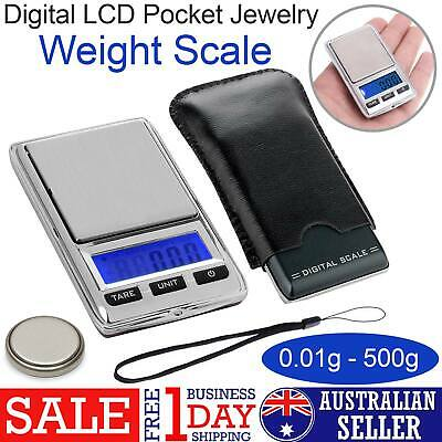 NEW 2019 500g 0.01 DIGITAL POCKET SCALES JEWELLERY ELECTRONIC MILLIGRAM MICRO MG