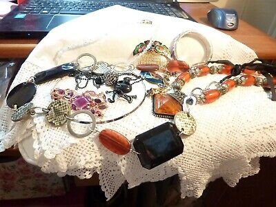 vintage job lot of costume jewellery 11 items BUY NOW take a l@@k