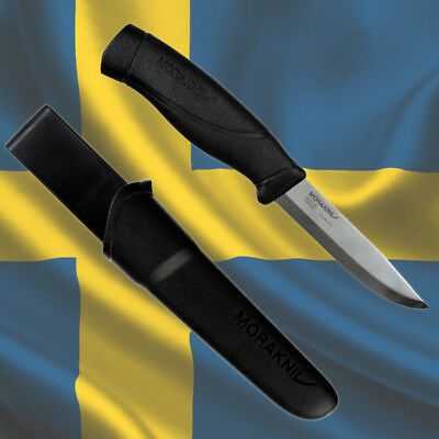 MORAKNIV COMPANION HEAVY DUTY BLACK Stainless Steel Blade - MORA of Sweden Knife