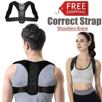 Clavicle Posture Support Corrector Back Straight Shoulders Brace Strap Correct