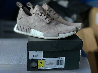 sale retailer 3de86 d6171 USED ADIDAS NMD Runner R1 PK Japan French Beige Primeknit Boost Size 9  S81848
