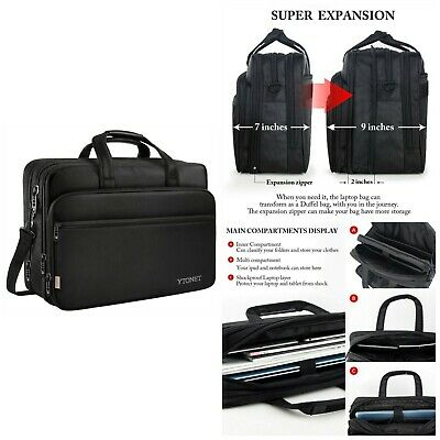 Expandable Laptop Bag Notebook Briefcase Water Resistant Computer Tablet  Ytonet