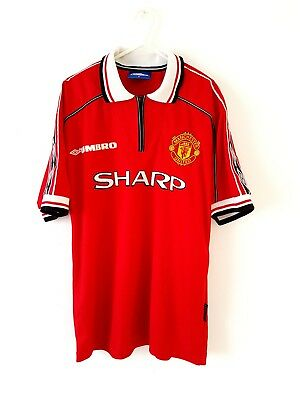 Manchester United Home Shirt 1998. Medium. Umbro. Red Adults Man Utd Top Only M.