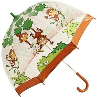 Bugzz PVC Dome Umbrella for Children - Cheeky Monkeys