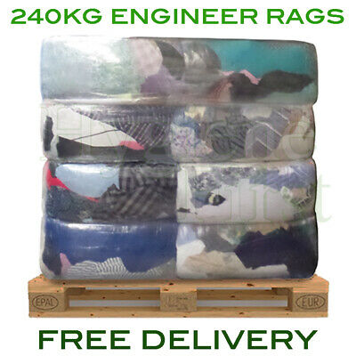 240kg Pallet Engineer Industrial Mechanics Cloths Wipers Wiping Cleaning Rags
