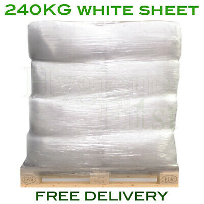 240kg Bulk Pallet Of White Sheet Cloths Rags Wipers Wiping Cleaning Polishing