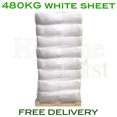 480kg Bulk Pallet Of White Sheet Cloths Rags Wipers Wiping Cleaning Polishing