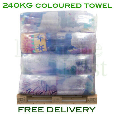 240kg Pallet Coloured Terry Towel Rags Cloths Wipers Wiping Cleaning Polishing