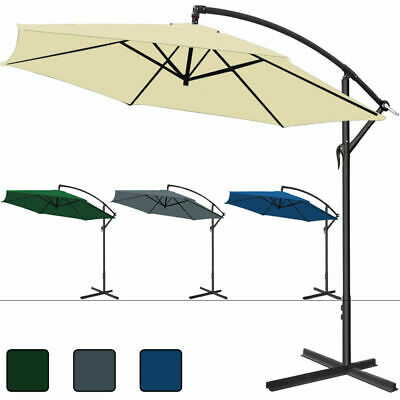 Garden Sun Parasol 3.3m Large Patio Umbrella Hanging Banana Shade Cantilever