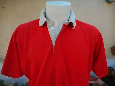 MAGLIA RUGBY O'NEILLS #18 VINTAGE 1980s RED SHIRT OLD JERSEY ANCIEN MAILLOT 0059