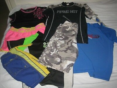 8 Pieces Of Assorted Swimwear Rashie Tops & Shorts Boys & Girls All In Ec