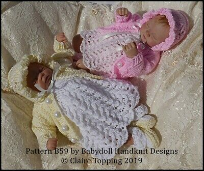 1905c009a BABYDOLL HANDKNIT DESIGNS Knitting Pattern Romper   Jacket Set B53 8 ...