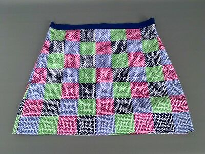 e0044d170 VINEYARD VINES Women's Sz.12 Multicolor Whale Print Patchwork Mini Skirt -Lined