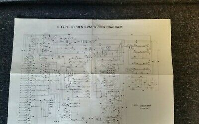 jaguar e-type series 3 v12 wiring diagram with component index