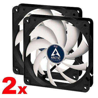 2x F12-S Arctic Cooling Quiet 120mm 3-pin Case Fan Very Low Noise Silent