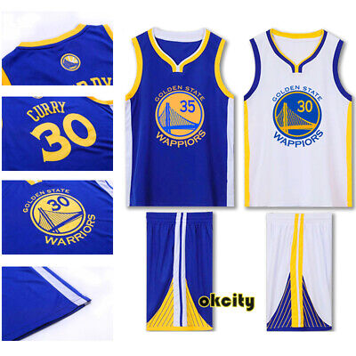 Golden State Warriors Stephen Curry Klay Thompson NBA Youth Child Kid Jersey Kit
