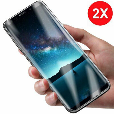 2x Panzer Folie 3D Samsung Galaxy S8 / S8 Plus Display Schutz Folie Cover KLAR