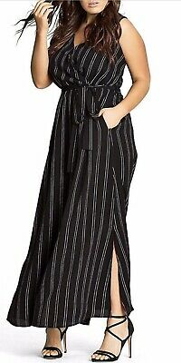 CITY CHIC PLUS Size 18 Black And white Striped Maxi Dress - $20.00 ...