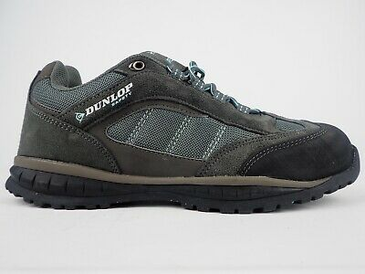 Ladies Dunlop Iowa Grey Blue Safety Lace Up Shoes