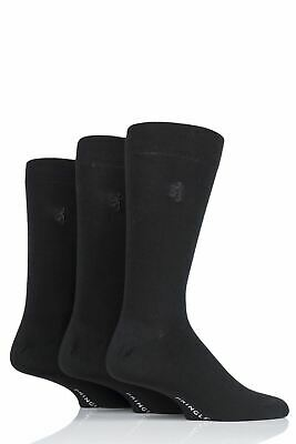 Mens 3 Pair Pringle Black Label Gentle Grip Bamboo Socks