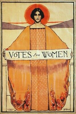 Votes for Women : suffrage : B. M. Boye : 1913 Art Print Suitable for Framing