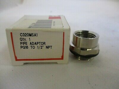 "New Eaton/Cutler-Hammer C320Msa1 Pipe Adaptor Pg16 To 1/2"" Npt"