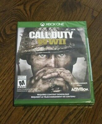 Brand New Call of Duty: WWII Game (Xbox One, 2017) WW2 SEALED Free Shipping