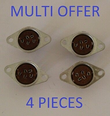 Nuvistor Chassis Socket Soc54Nc Nos Multi Offer 4 Pieces Valves / Tubes
