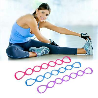 Yoga Resistance Bands Holes Silicone Fitness Pull Rope Body Training Tools Y