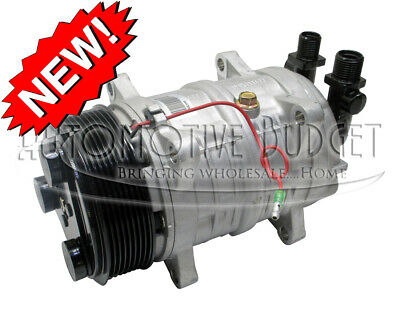 A/C Compressor w/Clutch for Heavy Duty Valeo TM-16, 12v, 8 Grooves - NEW