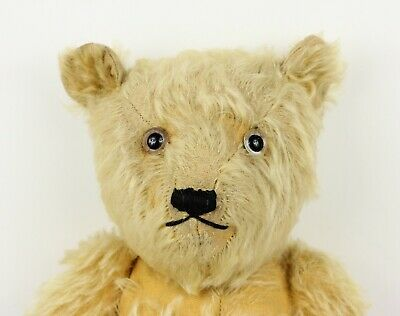 Vintage 1940s CHILTERN Mohair Jointed Old Teddy Bear English Antique