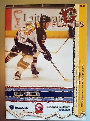2003 Guildford Flames v Hull Thunder PROGRAMME free UK p&p