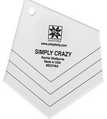Ez Simplicity Simply Crazy Acrylic Template - Quilting Patchwork - Scrap Fabric