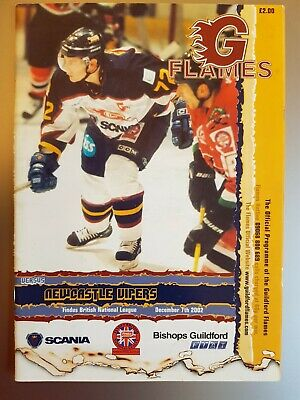 2002 Guildford Flames v Newcastle Vipers PROGRAMME free UK p&p