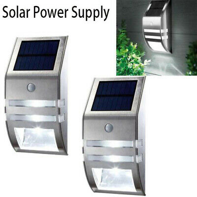 4 Pack Solar Powered LED Wall Light Motion Sensor Security Lamp Outdoor Lamp RF