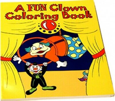 """Large COMEDY /& MAGIC COLORING BOOK Pages Change Colors Trick 8/"""" x 10/"""" Clown Toy"""